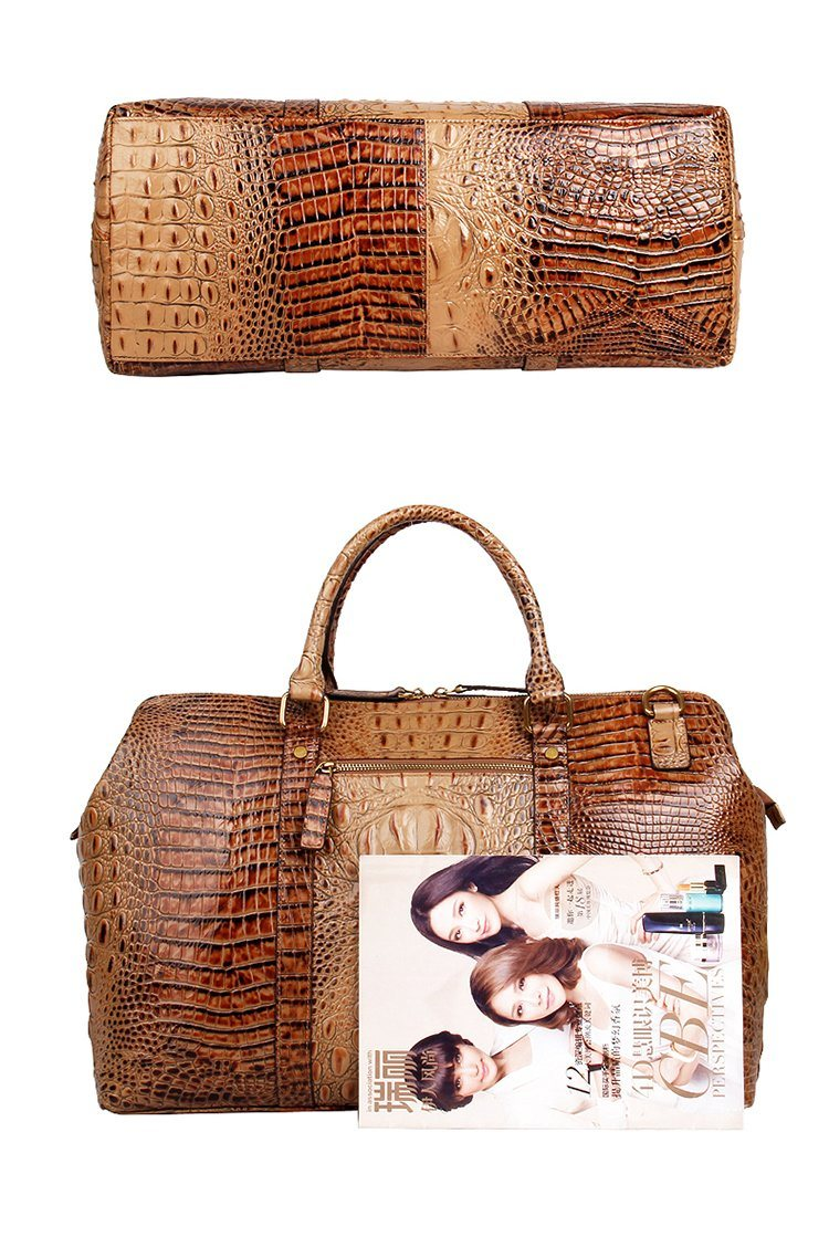 Luxury Customized Design Croc Print Leather Weekend Bag for Travelling