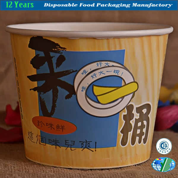Disposable Paper Bucket for Food