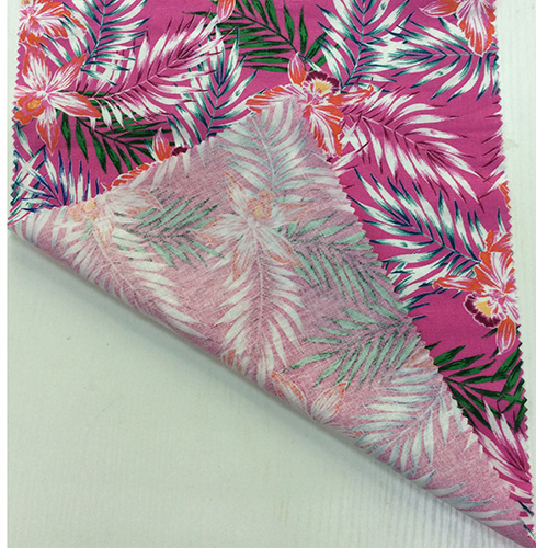Linen/ Viscose Blended Garment/Home Textile Fabric with Flower Printing