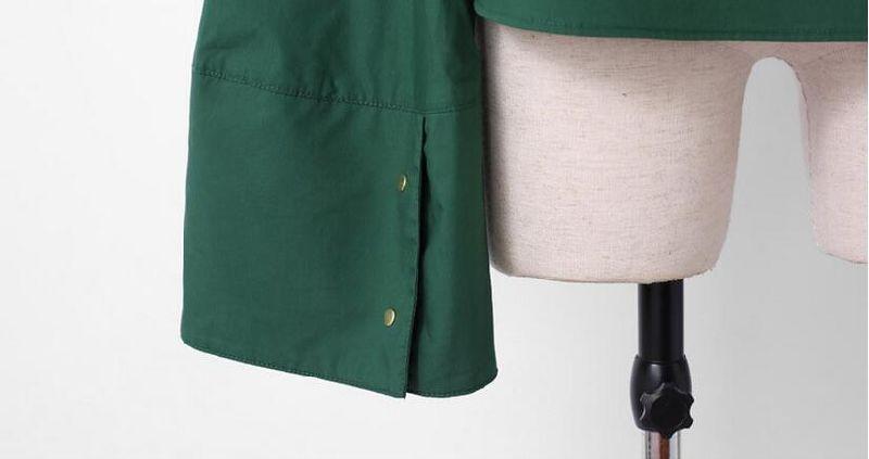 Deep Green Spring Fashion Loose Sleeve Ladies Shirt