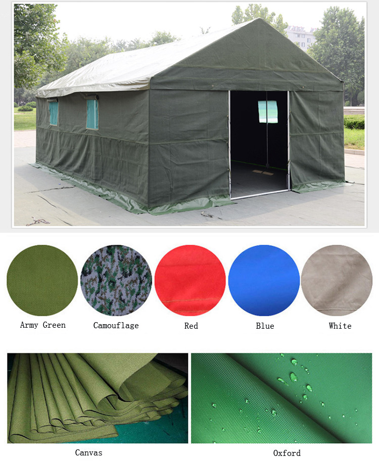 Heavy Duty Waterproof Canvas Military Disaster Relief Tent