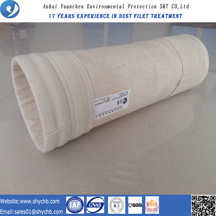 Dust Collector Aramid Nonwoven Filter Bag for Mix Asphalt Plant