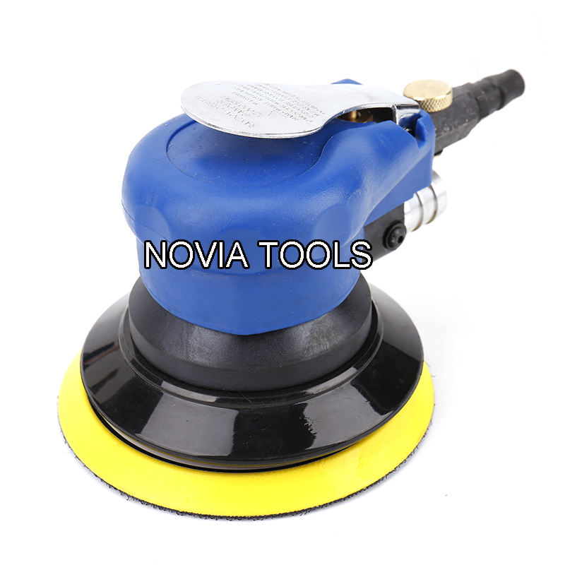 Vacuum Assisted Dual-Action Orbital Air Palm Sander with Built-in Dust Collecting Bag & Hose Nv-519