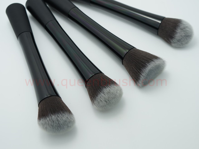 Metal Kabuki Brushes 4PCS Synthetic Hair Cosmetic Makeup Brush Set