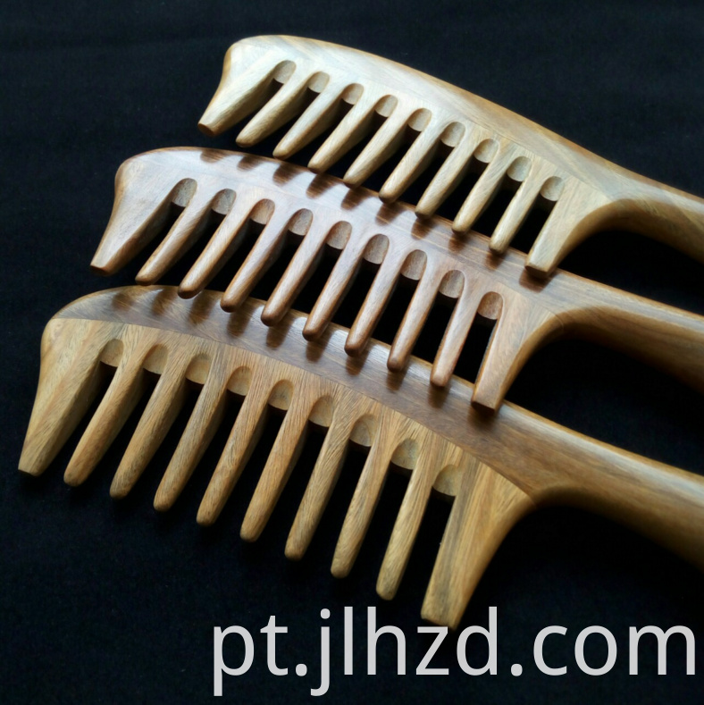 green sandalwood wide tooth comb