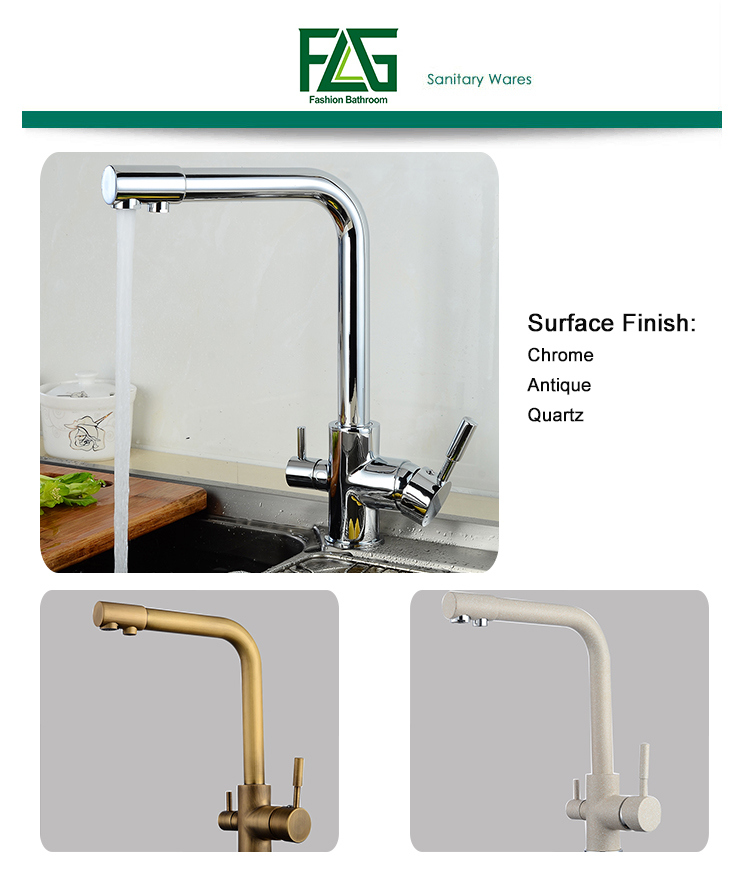 FLG Water Purifier Faucet Chrome Finish Kitchen Mixer