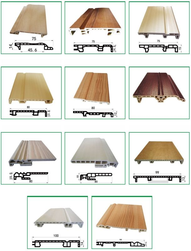 WPC Skirting Flooring Skirting Decoration Skirting Sk-75h14-a