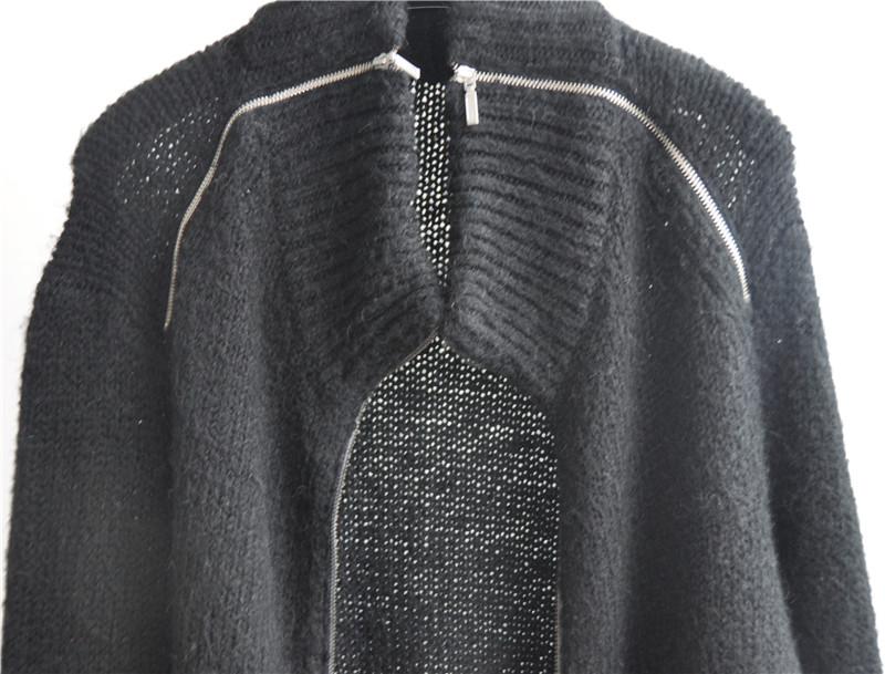 Women Winter Cardigan Knitting Sweater with Zipper