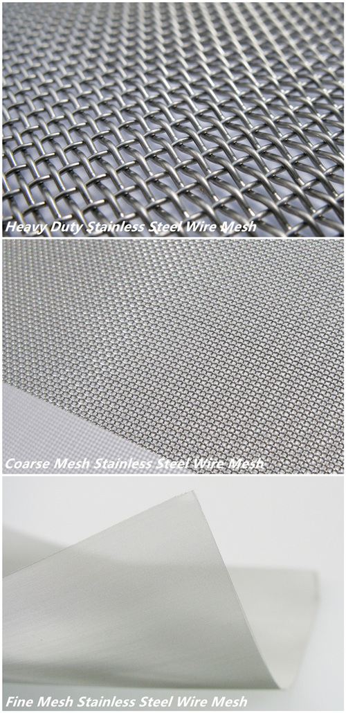 High Quality 304 Fine Stainless Steel Wire Mesh Cloth (SSWMC)