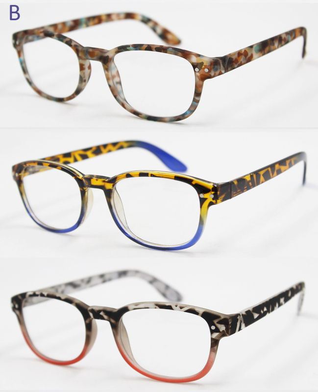 New Fashion Plastic Rubber Finished Reading Glasses (WRP604570)