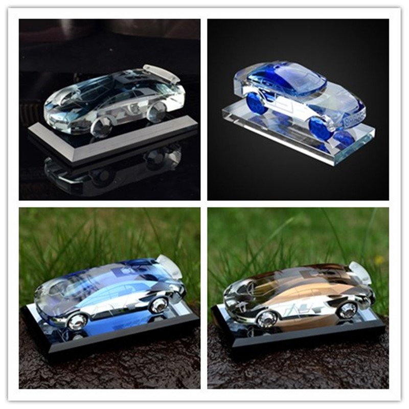 decoration or Gifts Souvenirs Fashion Crystal Glass Car Model