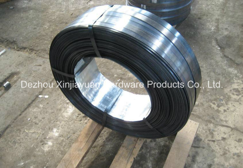Q235 Ribbon/Oscillate Wound Black Steel Strapping for Sale