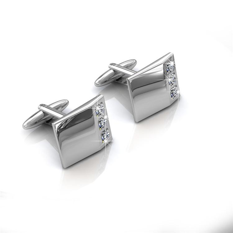 Destiny Jewellery Crystal From Swarovski Mr Glossy 2 Cufflinks