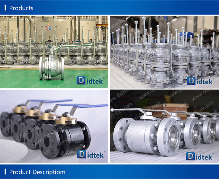 Didtek China Manufacturer Soft Sealing Floating Double Ball Valve