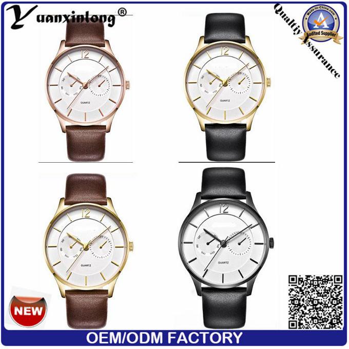 Yxl-560 Watch Manufacturer 2016 Business Mens Luxury Watches Stainless Steel Gold Quartz Wrist Watch Men