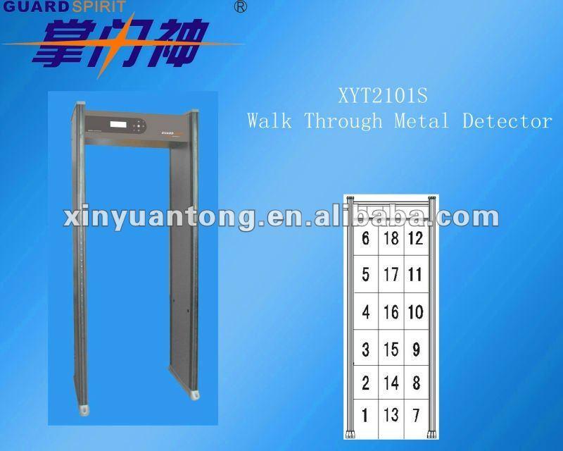 Muti Zone Arched Door Frame Metal Detector Walk Through Gate