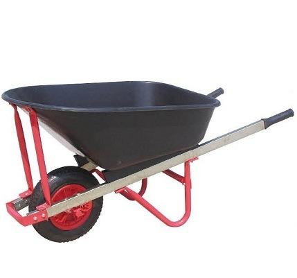 110L&7cbf High Quality Wheelbarrow with Wooden Handle (WB7808-1)
