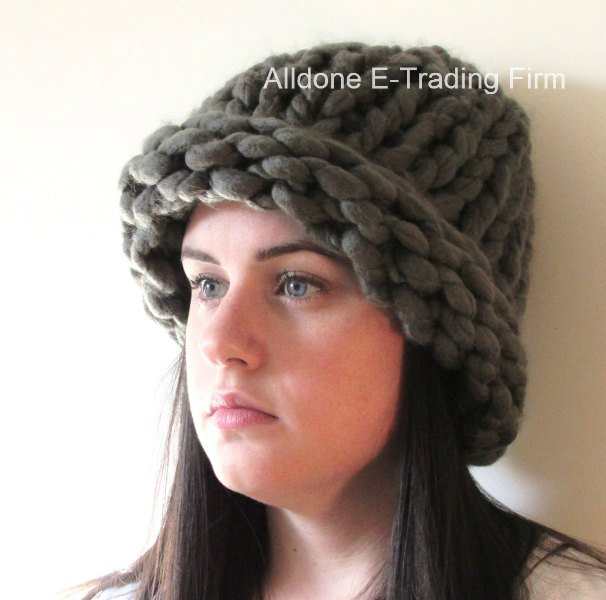 100% Hand Knitting Knitted Hat Beanie