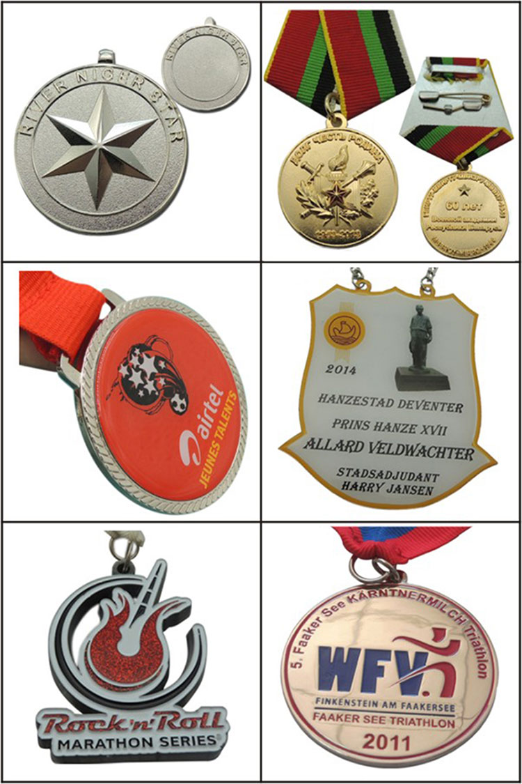 Factory Custom Weightlifting 3D Metal Medal (LM1002)