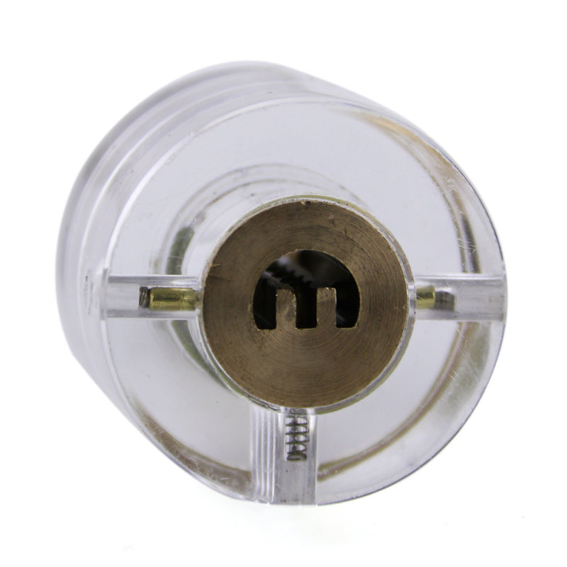 Transparent Practice safety Lock Core (Semicircle Key) for Locksmith Training