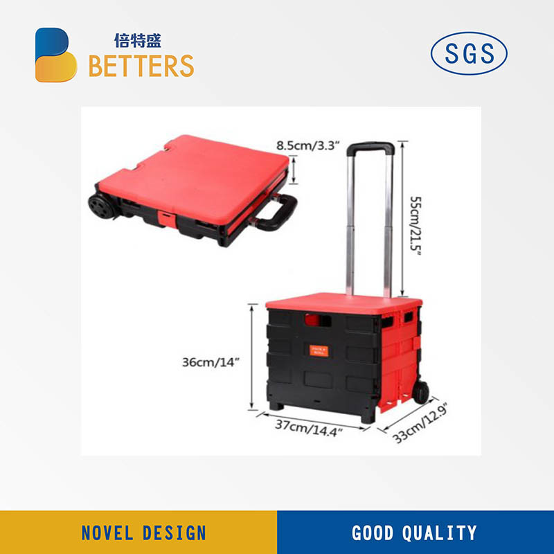 Folds Flat for Easy Storage Luggage Cart