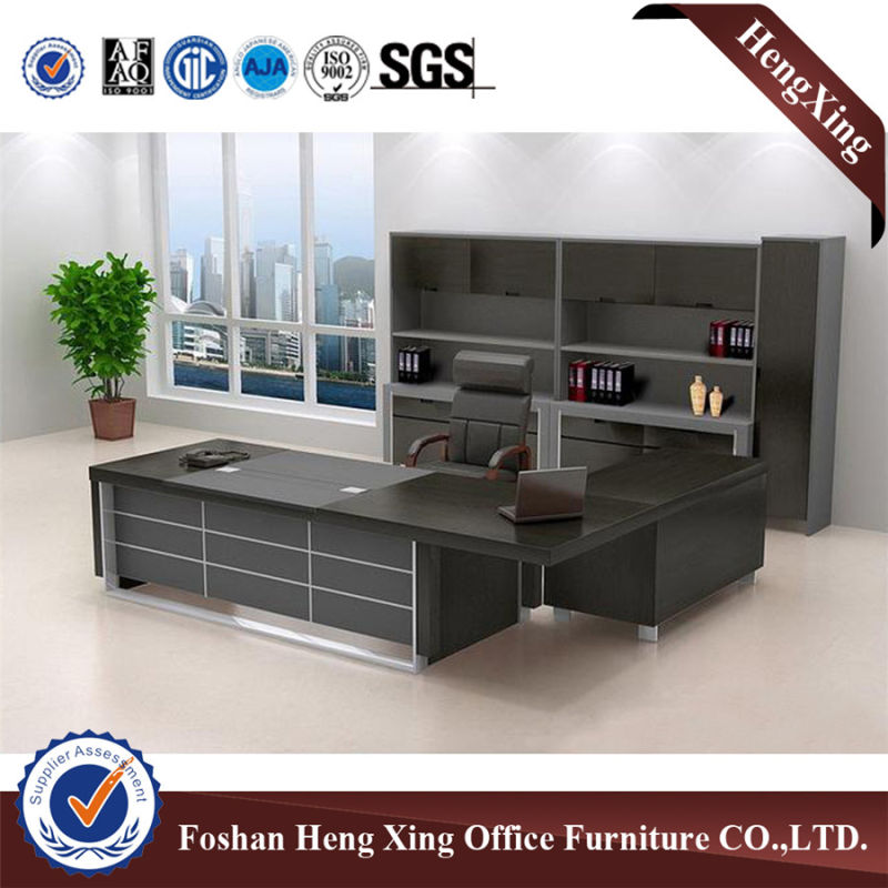 Economic Modern Wooden Veneer Office Table Manager Desk (HX-6M032)