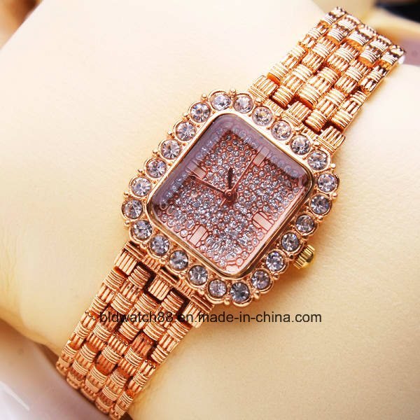 High Quality Alloy Quartz Gold Wrist Watch Dress Watch for Lady