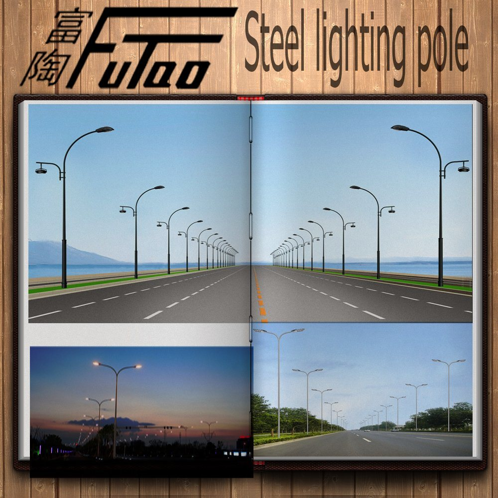 Hot DIP Galvanized LED Street Light Pole Road Lamp Post