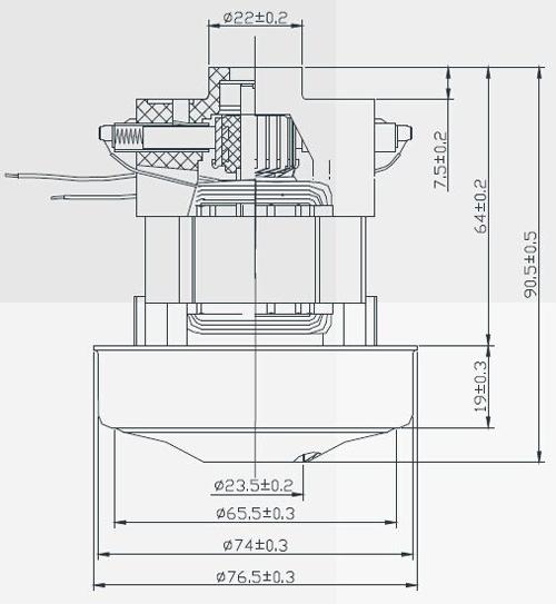 Industrial Field Production Motor