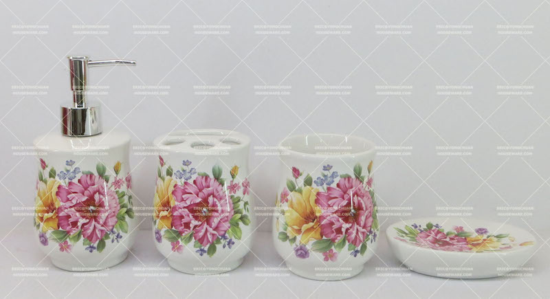 Flower Decorative Bathroom Set