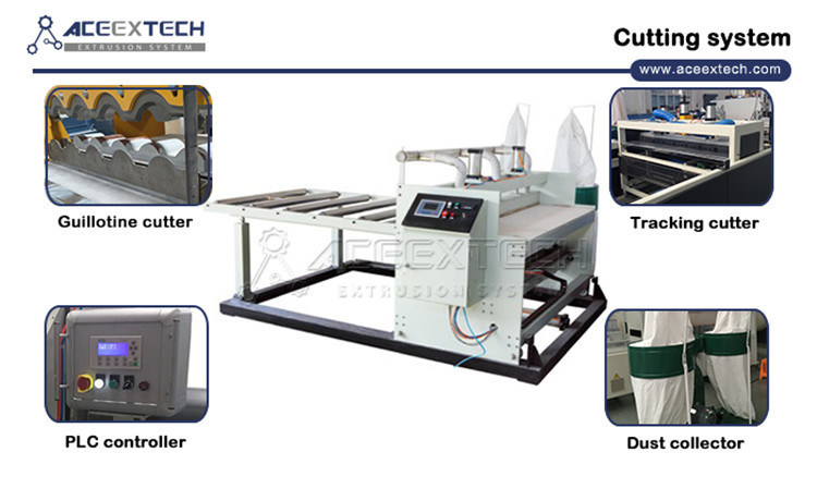ASA PMMA Coated PVC Composite Glazed Tile Production Machine