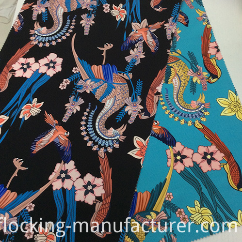 Printed Polyester Thick Twill Fabric for Garments and Home Textiles