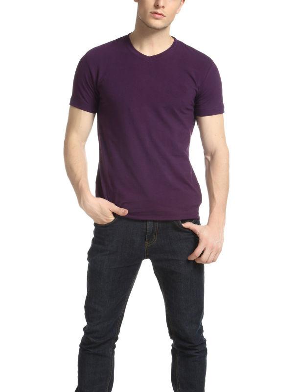 Men's Fitness Promotion V Neck Plain T Shirt
