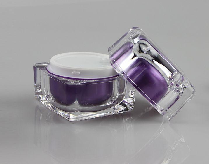 Luxury Square Acrylic Cream Jar