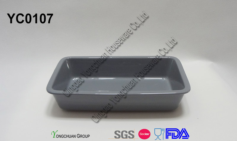 Oven Safe Stoneware Rectangle Casserole for Wholesale