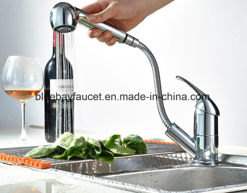 Cheap Pull out Brass Kitchen Tap