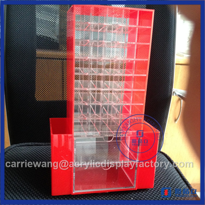 High Quality Black Rotating Acrylic Lipstick Stand