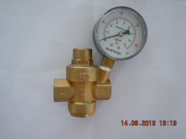 Brass Pressure Reducing Valve with Watch (a. 0208)