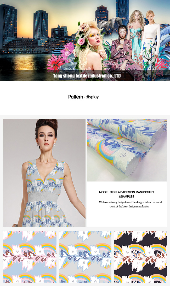 Digital Printed Plain Garment Lining Home Textile Dress Fabric