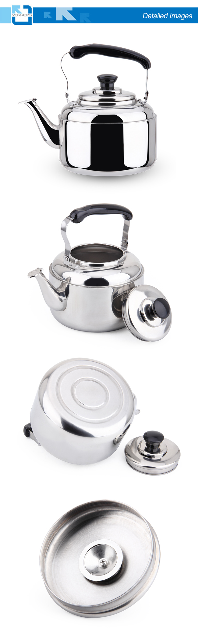 201 Stainless Steel Water Kettle and Tea Kettle with Portable Handle