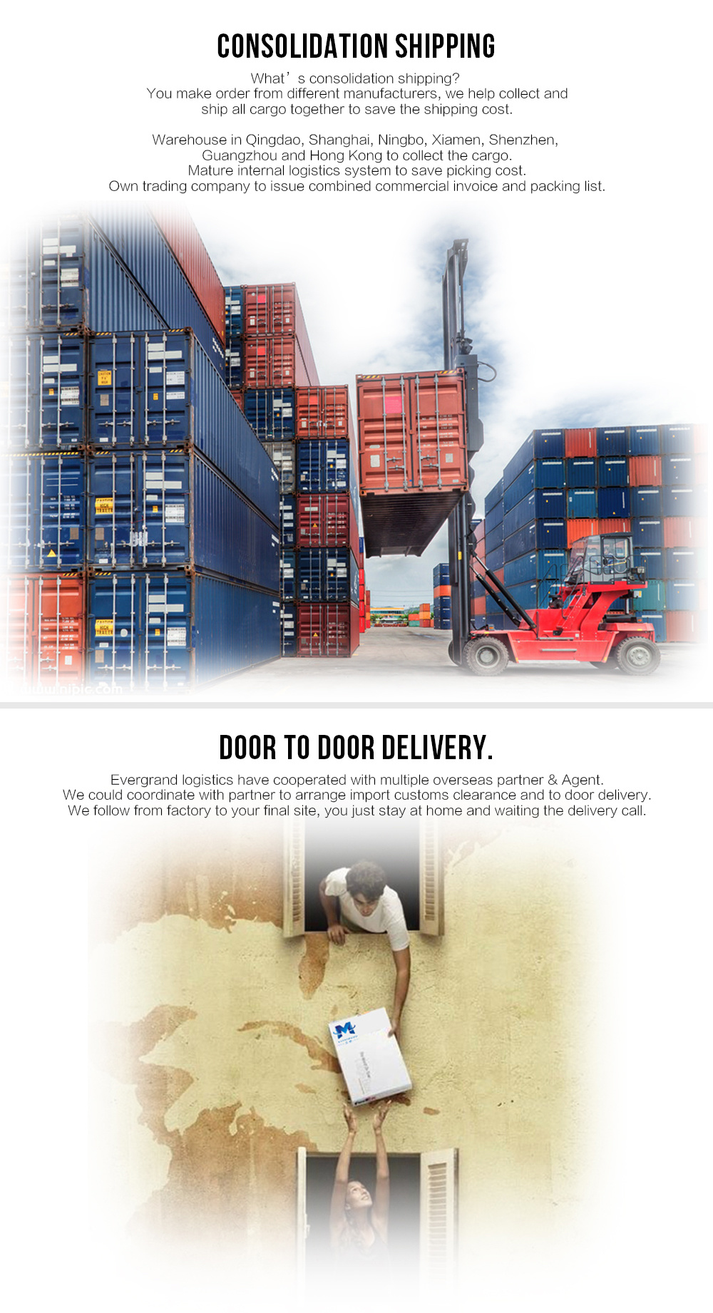 China Sea Freight Door to Door Shipping to Thailand