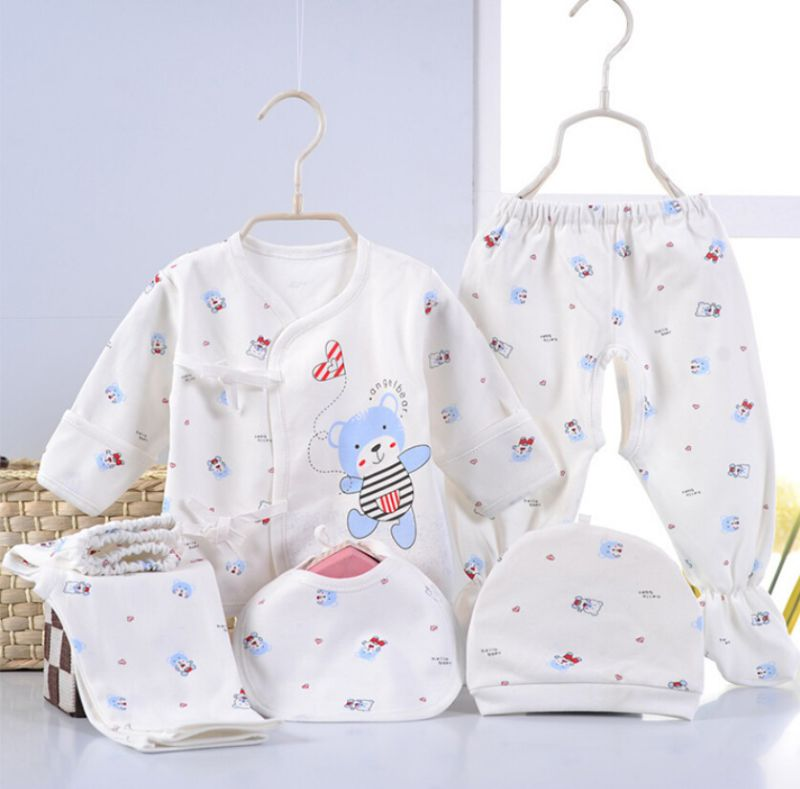 Newborn Baby Cartoon Printing 5PCS Infant Apparel
