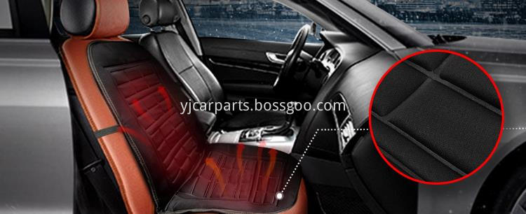 Comfortable heated car seat cushion