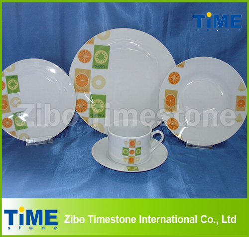 20PCS Porcelain Dinner Set with Printing-EU 17.9% Unti-Dumping Duty