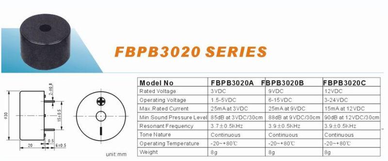 Series 30mm Piezo Sounder Piezoelectric Buzzer