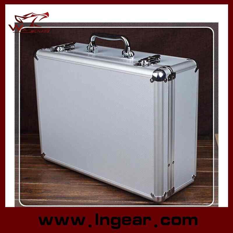 High Quality Tool Box 28cm Aluminum Alloy Tool Case for Pistol Gun Case