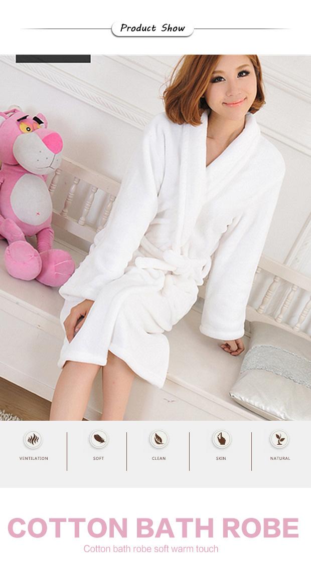 Cotton 100% Cut Pile Waffle Terry Cloth Bath Robe (BA-004) Manufacturer