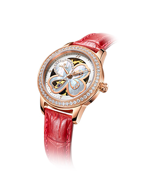 Automatic Diamond Four Leaf Clover Ladies Wrist Watch