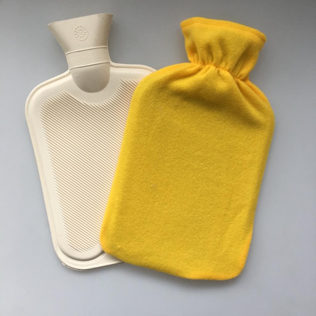 Cheap Yellow Colour Fleece Bag for BS Hot Water Bottle