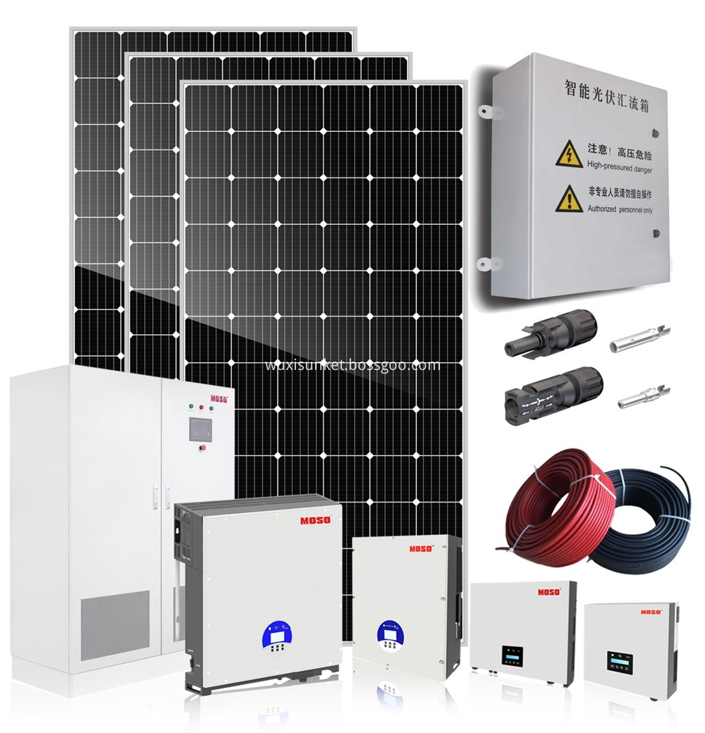 On grid solar system for home 10kw